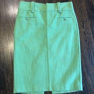Club Monaco Green Tweed like Pencil Skirt Size 2